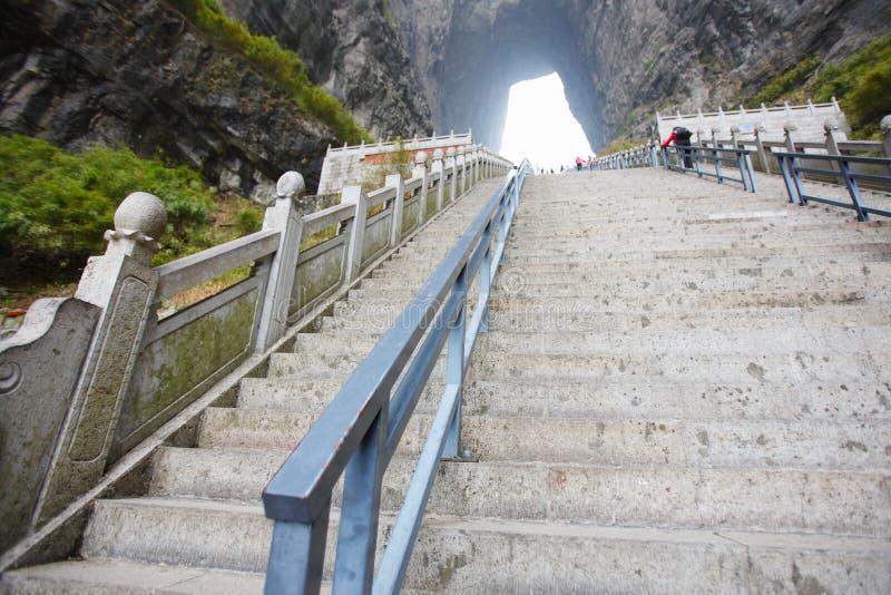 De stap tianmen binnen berg royalty-vrije stock afbeelding