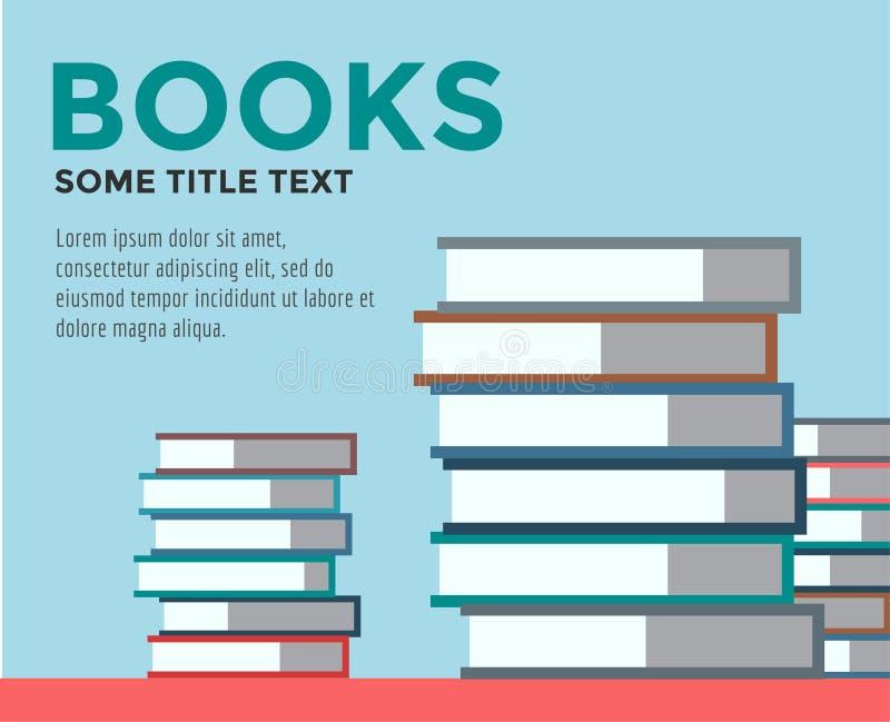 De stapel van boeken Geïsoleerde vector Schoolvoorwerpen, of vector illustratie