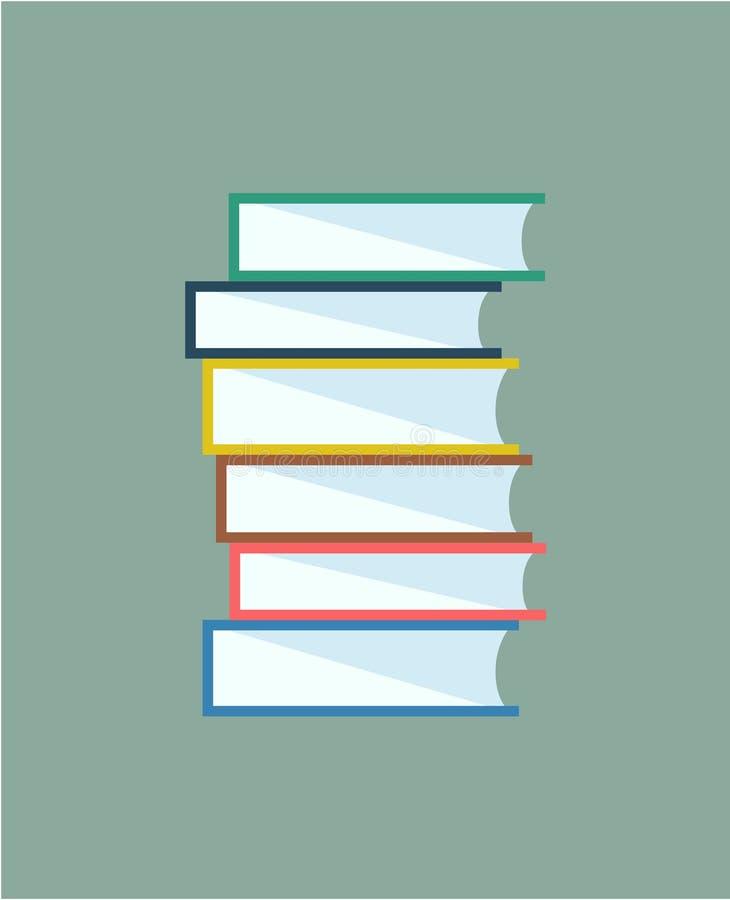 De stapel van boeken Geïsoleerde vector Schoolvoorwerpen, of stock illustratie