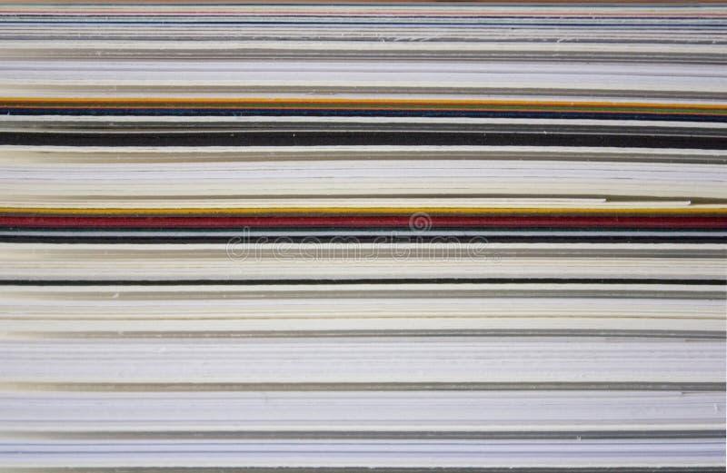 De stapel van Cartboard royalty-vrije stock afbeelding