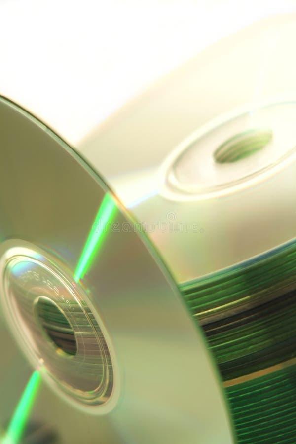 De Stapel van compact-discs en CD stock foto's