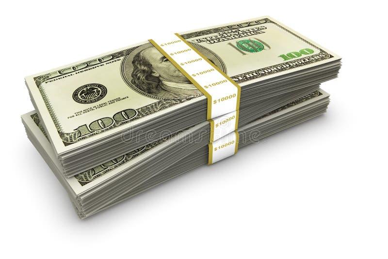 De Stapel van de dollar royalty-vrije illustratie