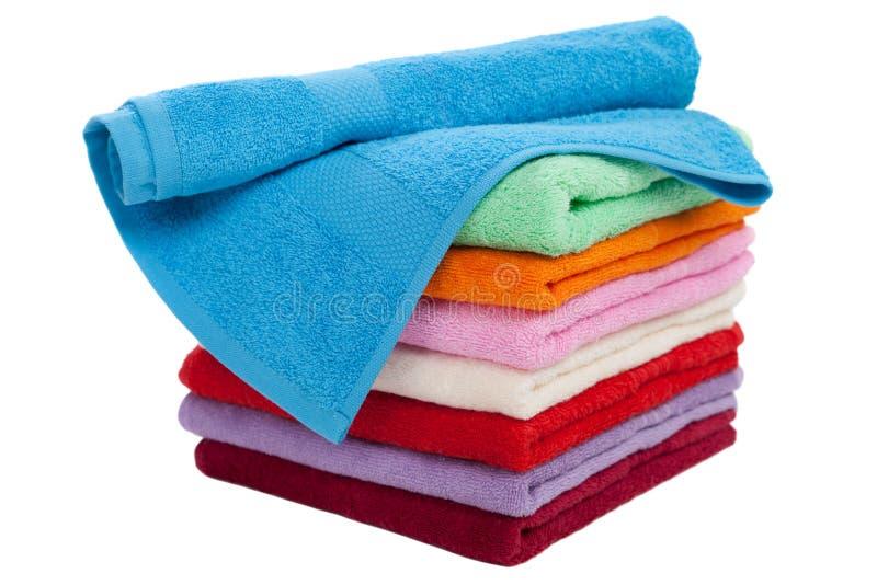 De stapel van de handdoek stock afbeelding