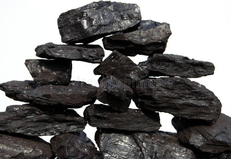 De stapel van de steenkool royalty-vrije stock foto's