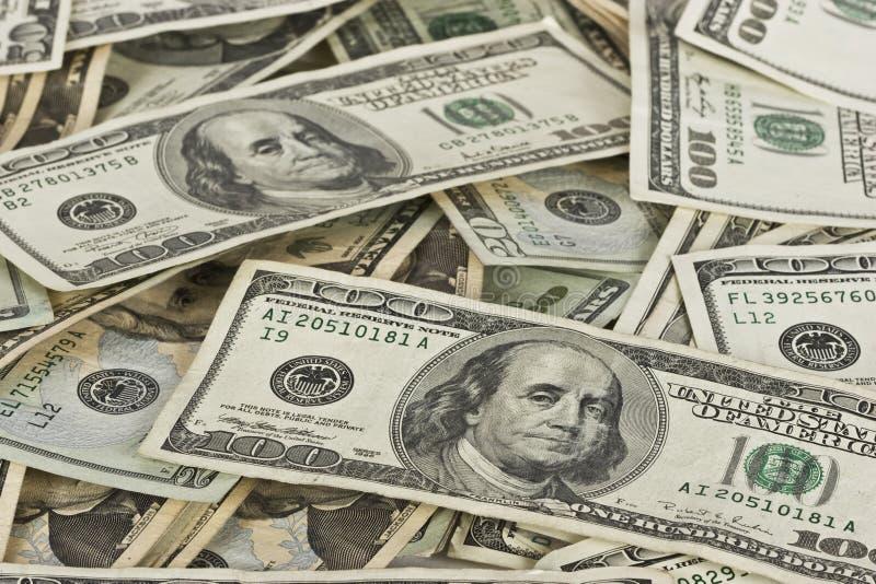 De Stapel van het contante geld royalty-vrije stock afbeeldingen