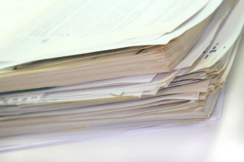 De stapel van het document royalty-vrije stock afbeelding