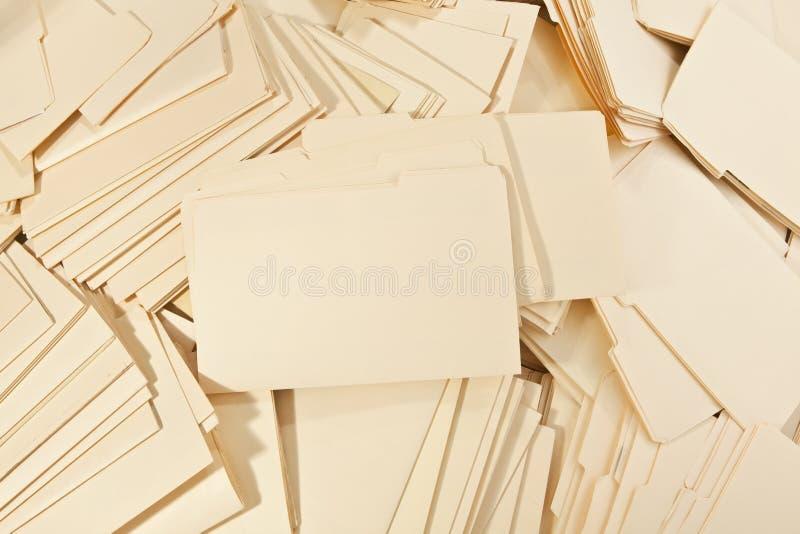 De Stapel van het dossier stock fotografie