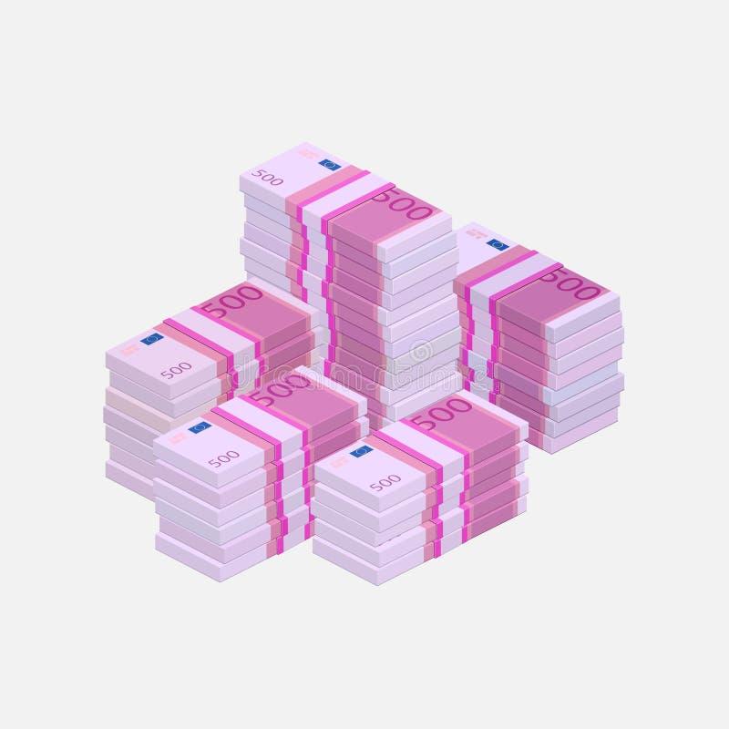 De stapel van het eurogeld royalty-vrije illustratie