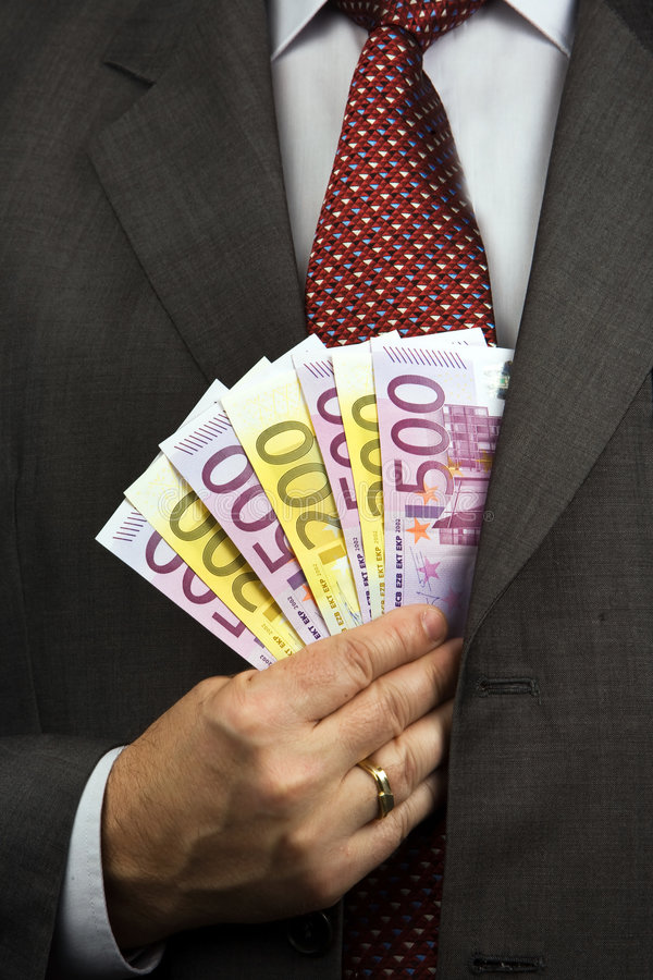 De Stapel van het geld royalty-vrije stock afbeeldingen