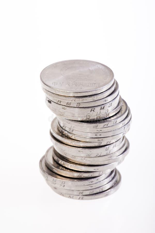 De stapel van het muntstuk stock foto's
