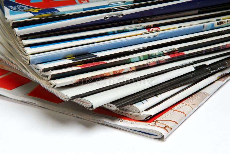 De stapel van het tijdschrift. royalty-vrije stock afbeelding