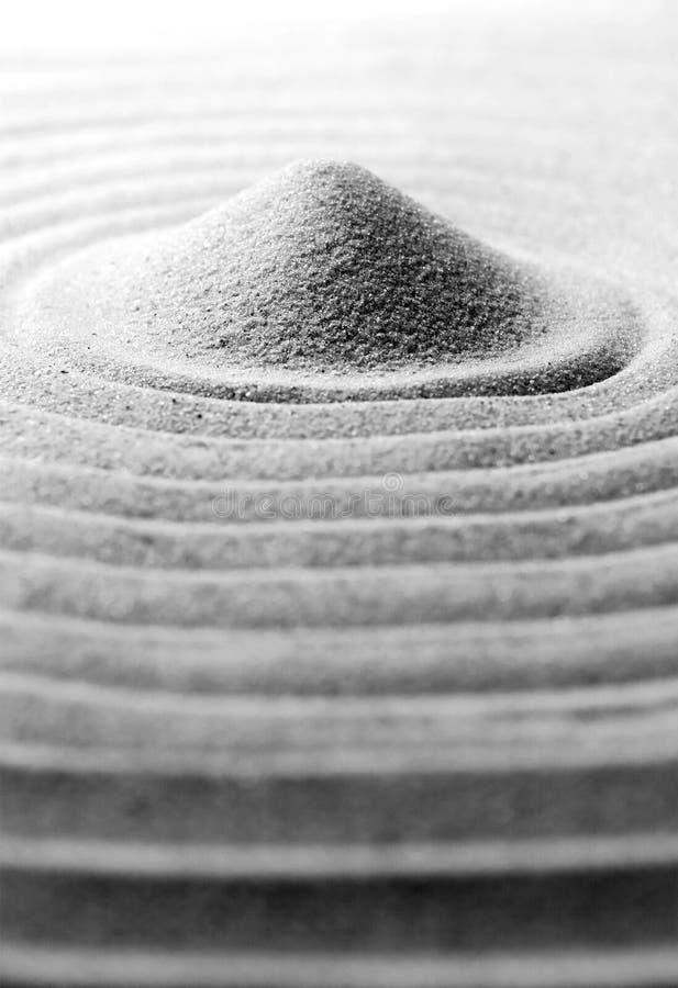 De stapel van het zand stock foto