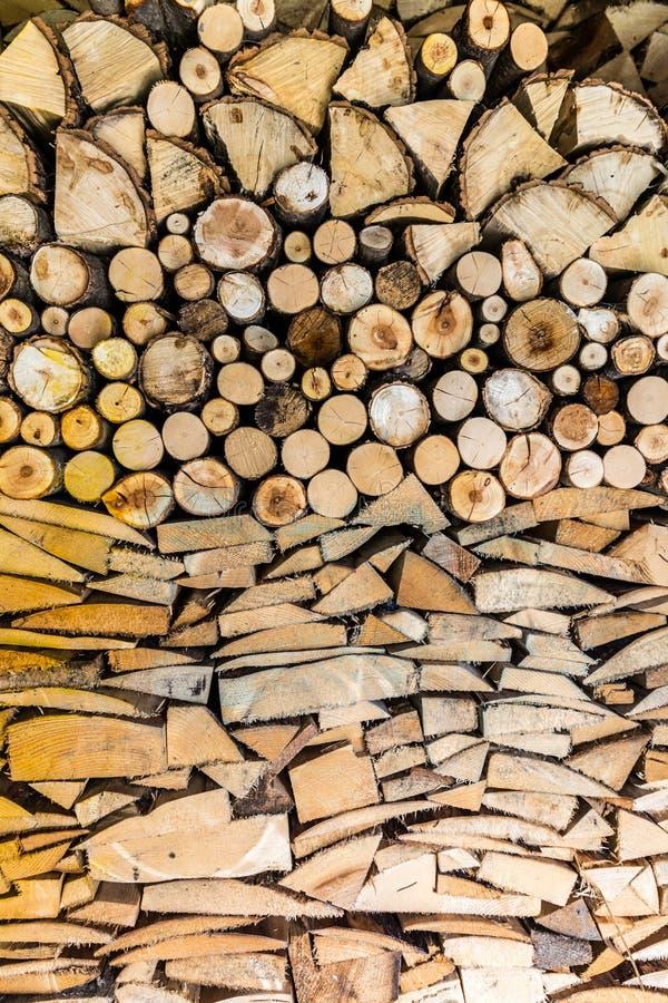 De stapel van hout opent de tuin het programma royalty-vrije stock afbeelding