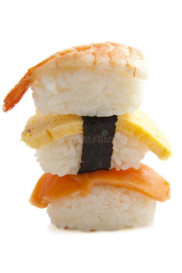 De stapel van sushi stock fotografie