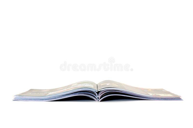 De stapel van tijdschriften stock foto's