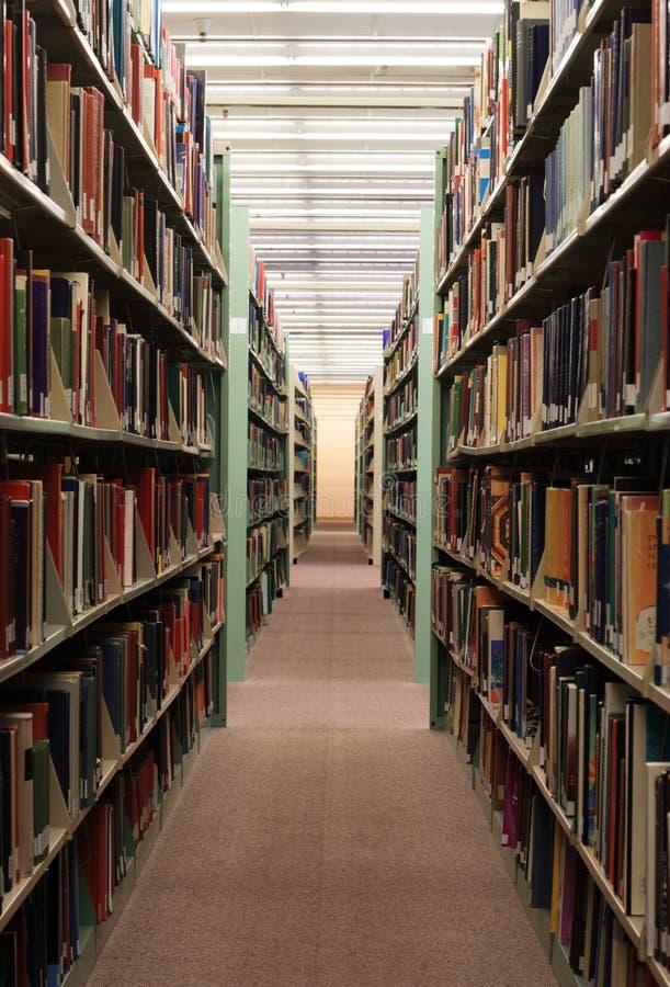 De stapels van de bibliotheek stock foto