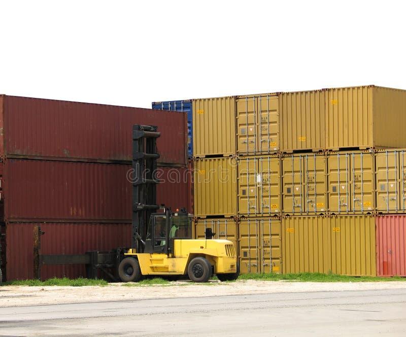 De stapels van de container royalty-vrije stock foto