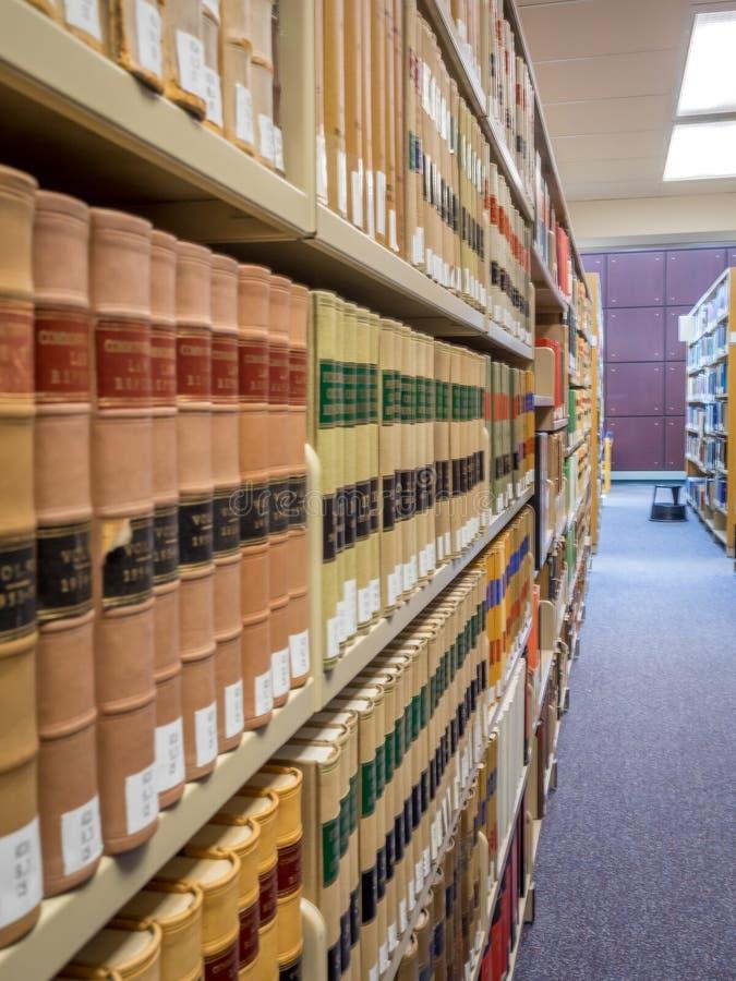 De stapels van de wetsbibliotheek stock fotografie