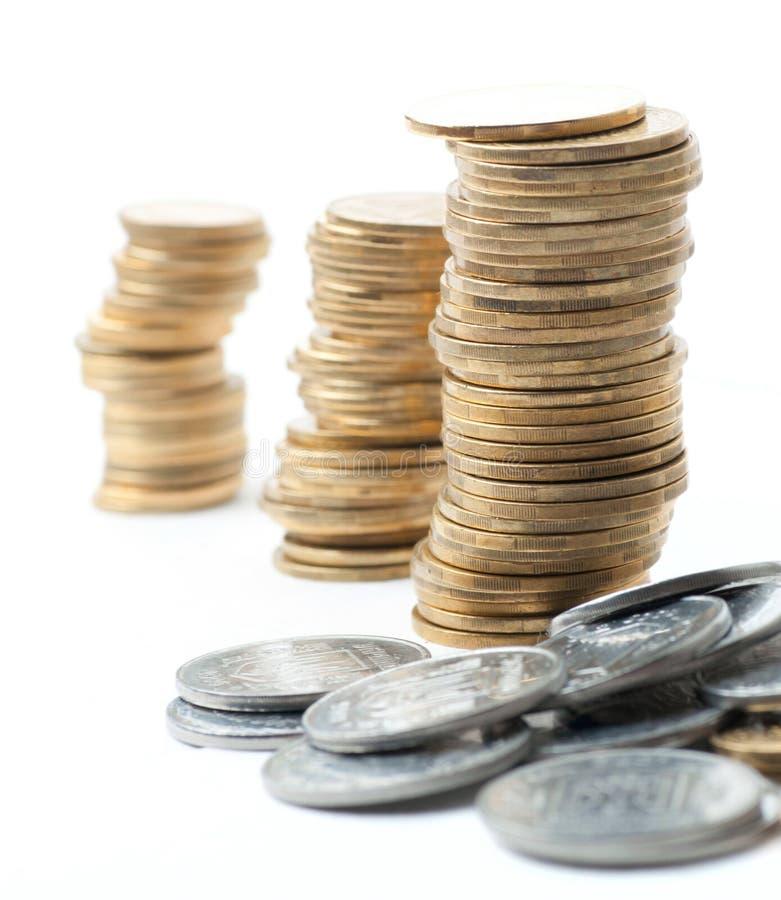 De stapels van het muntstuk royalty-vrije stock foto's