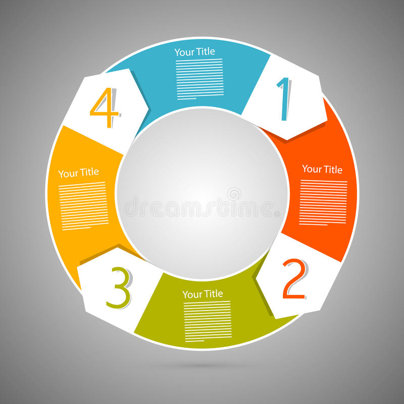 De Stappen van de cirkelvooruitgang voor Leerprogramma, Infographics royalty-vrije illustratie