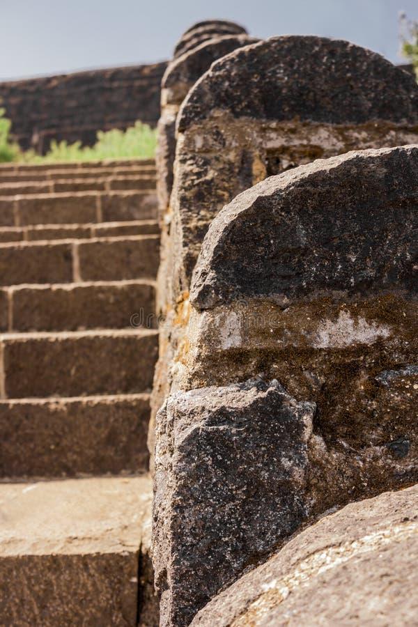 De stappen van de steen stock foto's