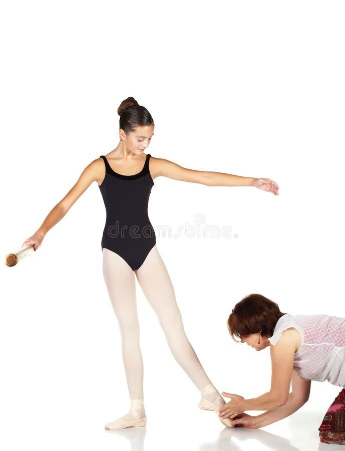 De Stappen van het ballet stock fotografie