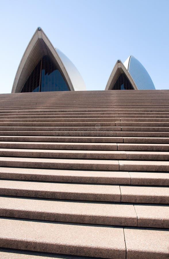 De stappen van het Huis van de Opera van Sydney royalty-vrije stock afbeeldingen
