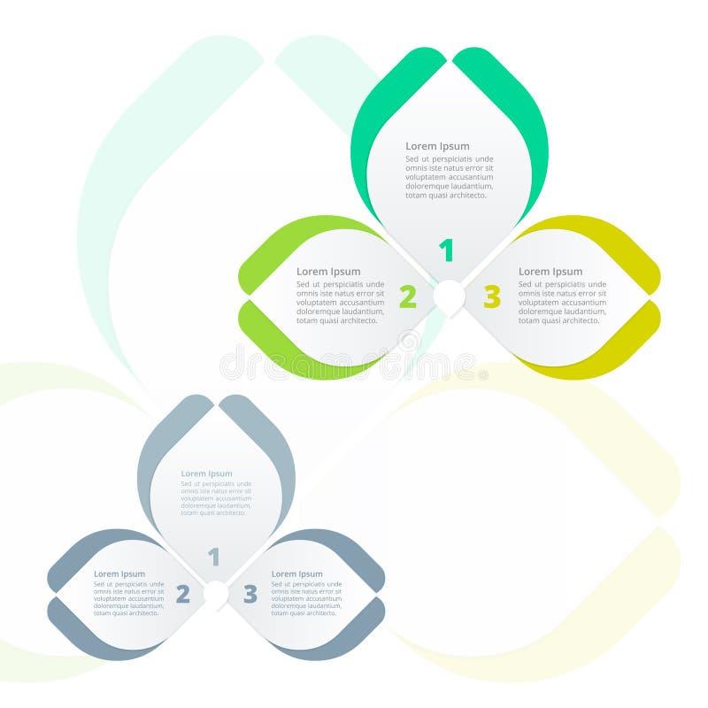 De stappen verwerken diagramInfographics, kleurrijke Bloemvlinder, Ideaal voor collectieve bedrijfspresentatie royalty-vrije illustratie