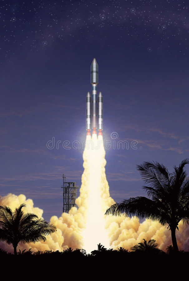 De Start van de raket vector illustratie