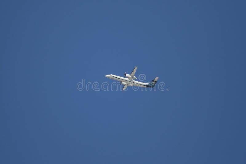 De start van het vliegtuig royalty-vrije stock foto