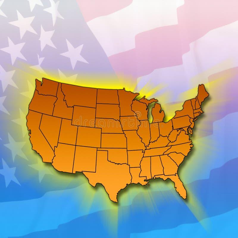 De Staten van het vasteland - Verenigde Staten stock illustratie