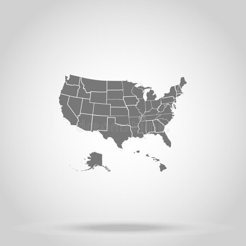 De staten van de V.S. van Amerika royalty-vrije illustratie
