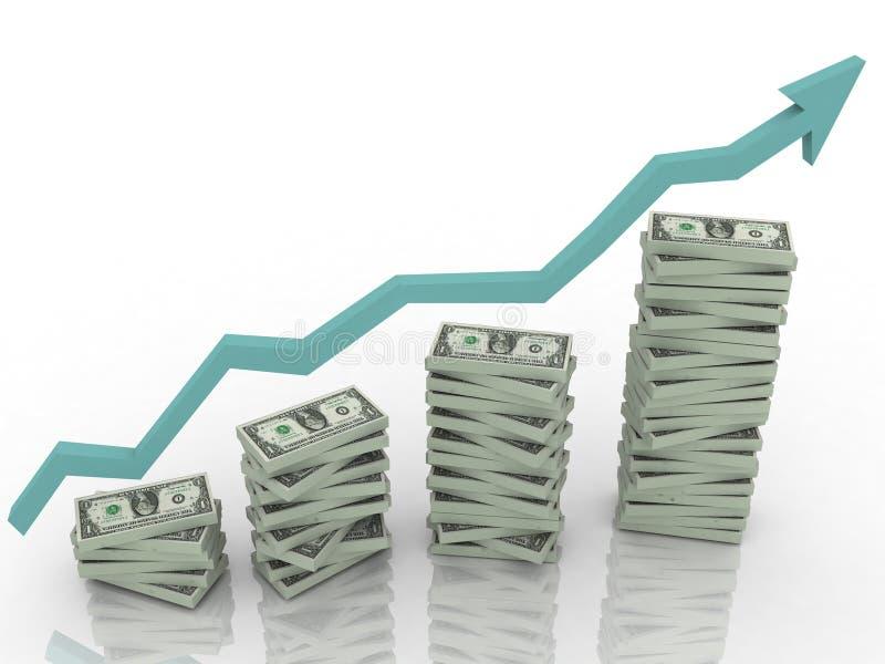 De statistieken van de dollar royalty-vrije illustratie