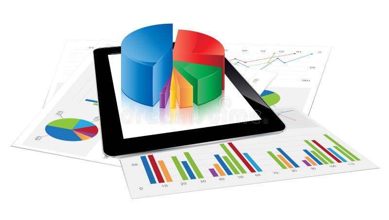 De Statistieken van de tablet stock illustratie