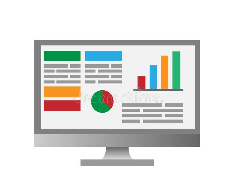 De statistieken van het Infographicscherm stock afbeelding