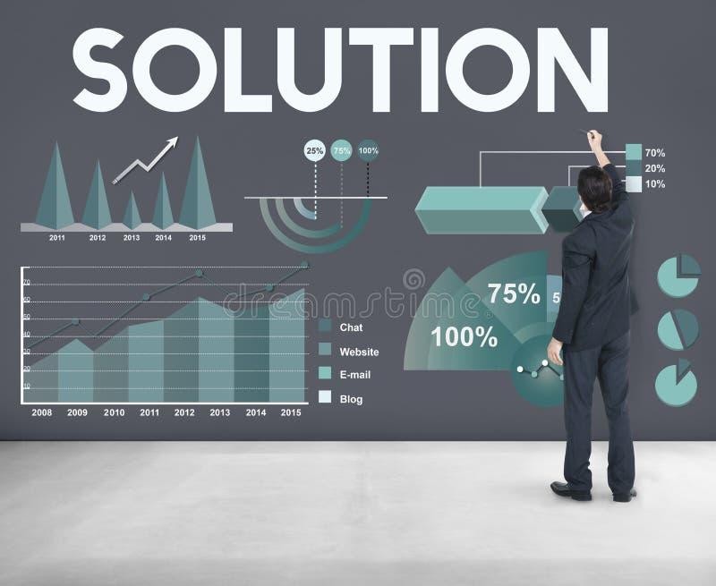 De Statistiekenconcept van Analytics van bedrijfswinstresultaten royalty-vrije stock foto