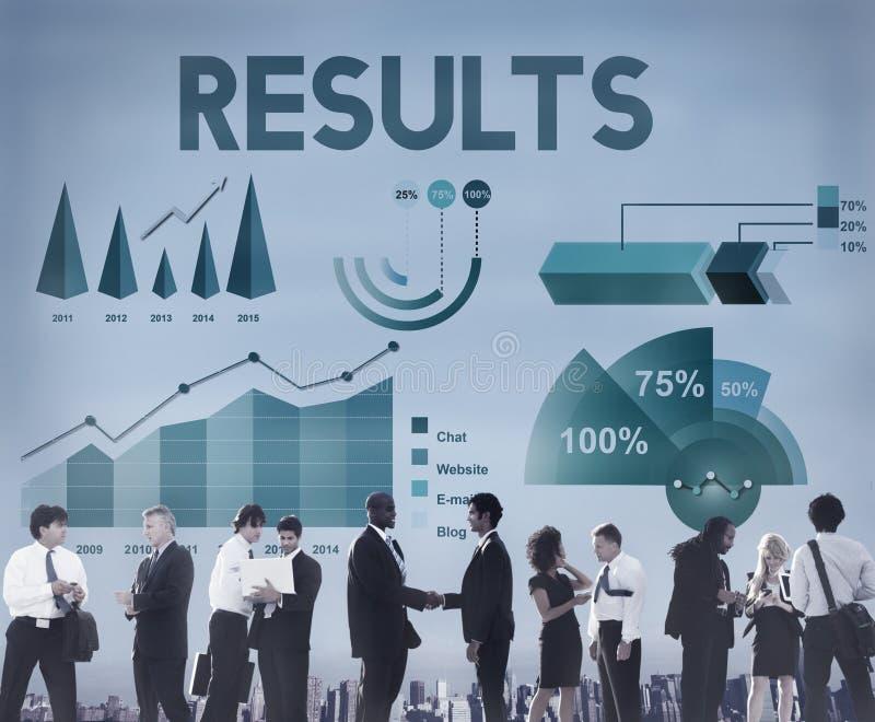 De Statistiekenconcept van Analytics van bedrijfswinstresultaten stock afbeeldingen