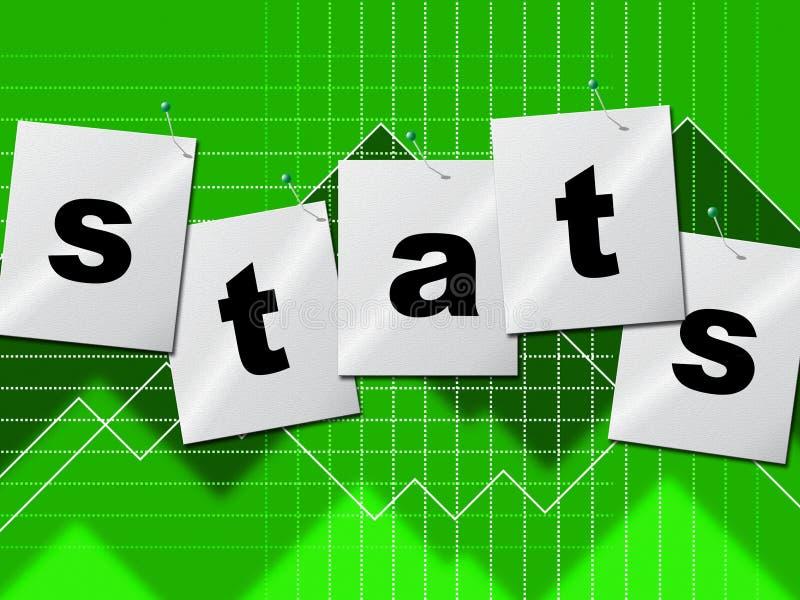 De statistiekengegevens wijzen op de Bytes en de Rapporten van Stats royalty-vrije illustratie