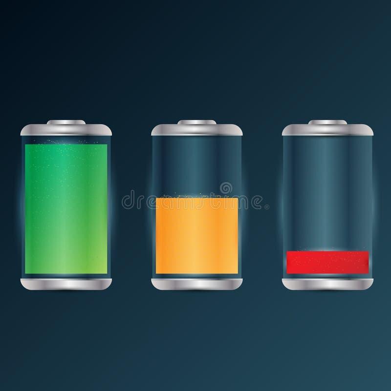 De status van de batterijlast - vectorillustratie royalty-vrije illustratie
