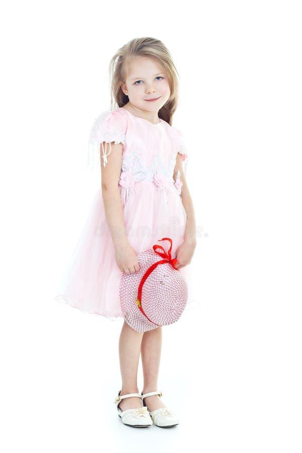 De status van weinig blonde meisje royalty-vrije stock foto