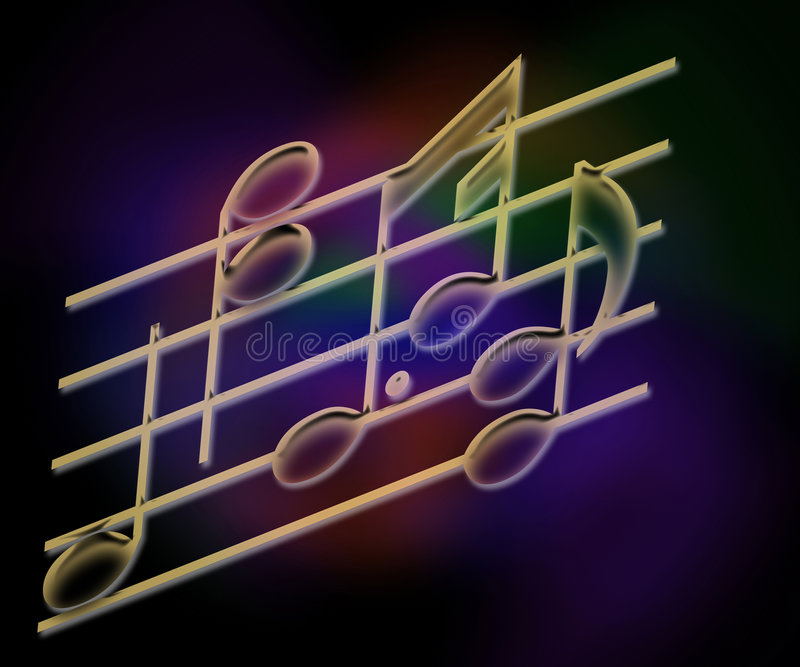 De Staven & de Nota's van de muziek stock illustratie