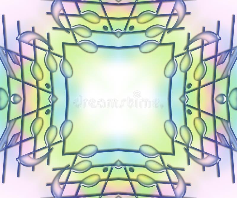 De Staven & de Nota's van de muziek - zacht pastelkleurFrame vector illustratie