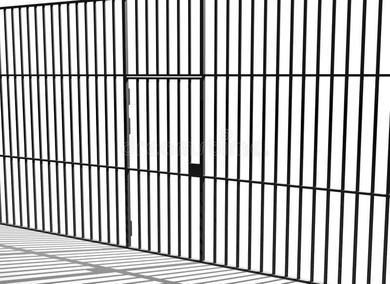 De staven van de gevangenis royalty-vrije illustratie