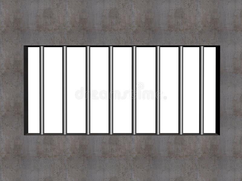 De staven van de gevangenis vector illustratie