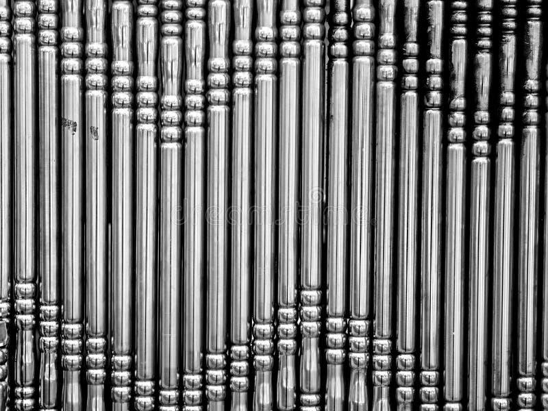 De staven van het metaal