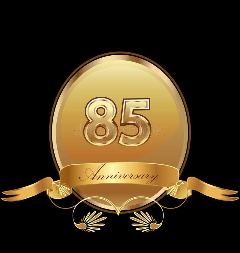 de 85ste gouden vector van het de verbindingspictogram van de verjaardagsverjaardag royalty-vrije illustratie