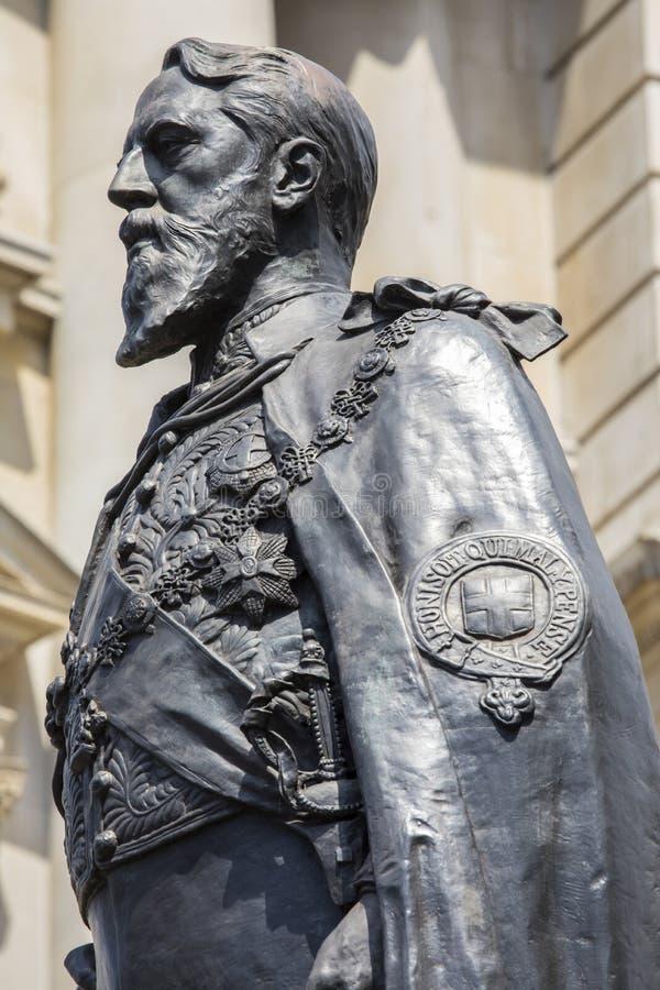 De 8ste Hertog van Spencer Cavendish van Devonshire-Standbeeld royalty-vrije stock foto
