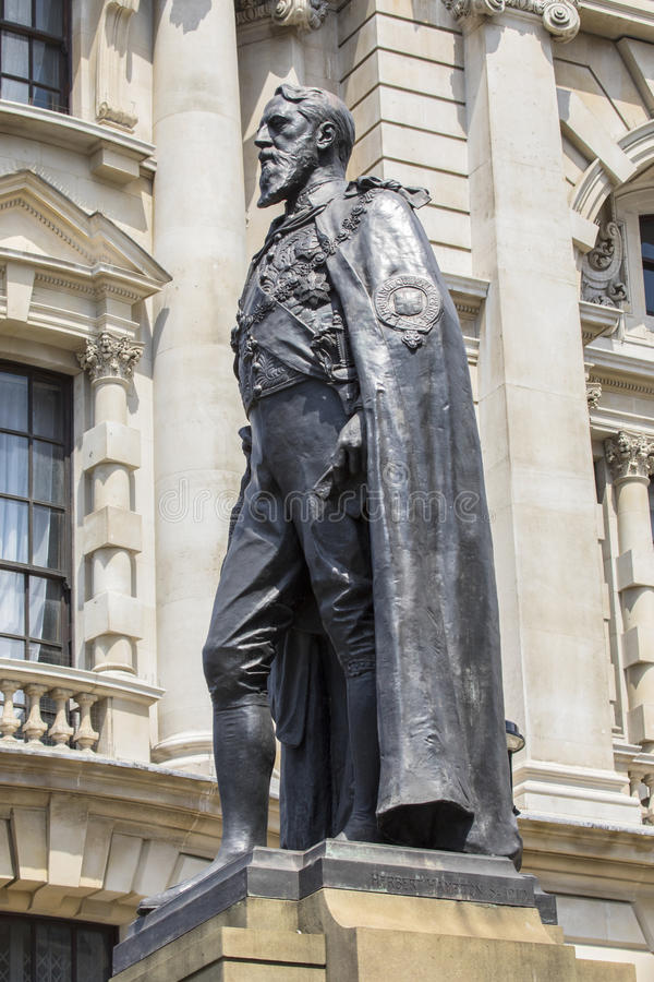 De 8ste Hertog van Spencer Cavendish van Devonshire-Standbeeld stock foto