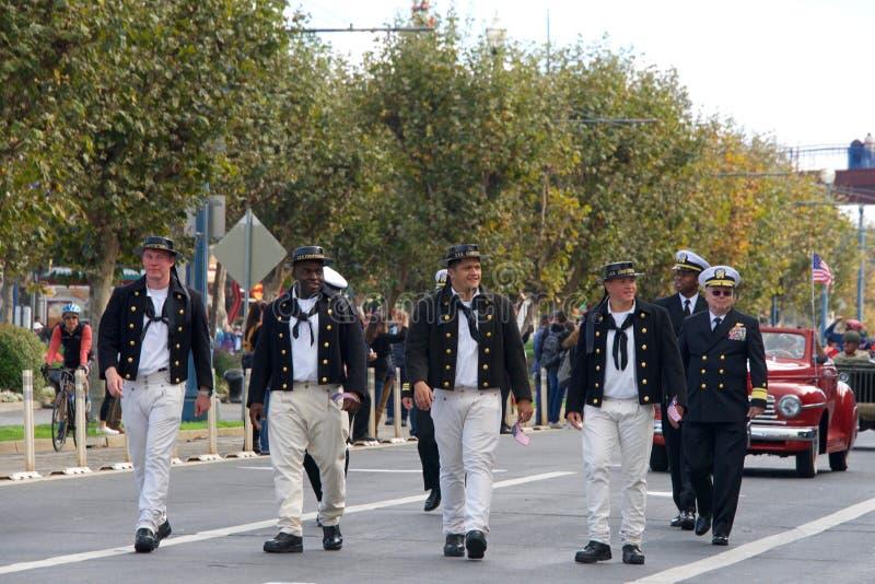 de 97ste Jaarlijkse Parade 2017 San Francisco, CA van de Veteraan` s Dag royalty-vrije stock afbeelding