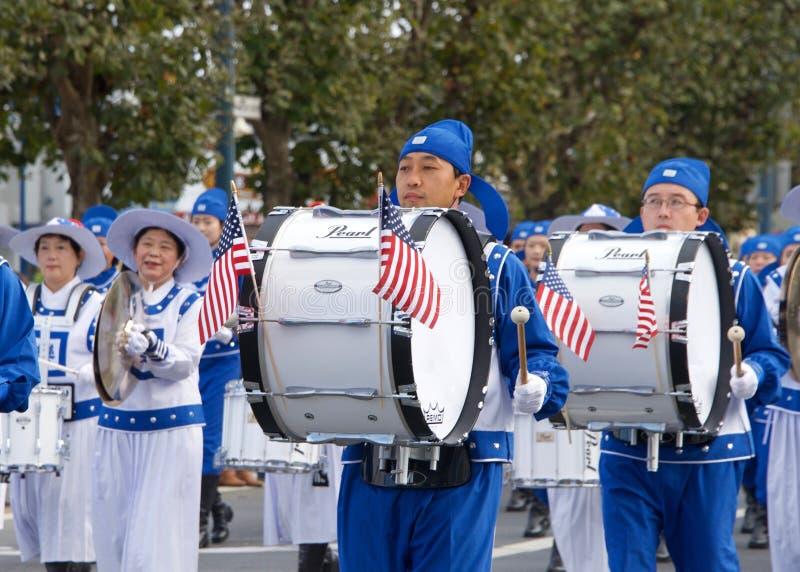 de 97ste Jaarlijkse Parade 2017 San Francisco, CA van de Veteraan` s Dag stock foto's